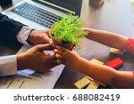 ecology concept. | Shutterstock . vector #688082419