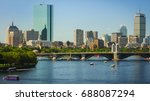 The Skyline Of Boston In...