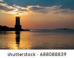 salem sunlight passing through... | Shutterstock . vector #688088839