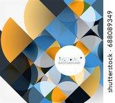cut paper circles  mosaic mix...   Shutterstock .eps vector #688089349