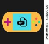 txt simple vector icon....