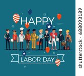 happy labor day | Shutterstock .eps vector #688093189