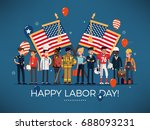 horizontal vector 'labor day'... | Shutterstock .eps vector #688093231