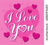 i love you card | Shutterstock .eps vector #688095685