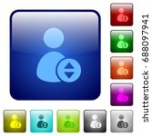 move user account icons in... | Shutterstock .eps vector #688097941