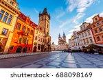 fantastic scene of the town... | Shutterstock . vector #688098169