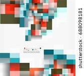 abstract blocks template design ...   Shutterstock . vector #688098181