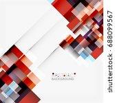 abstract blocks template design ... | Shutterstock . vector #688099567