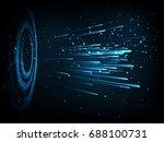 high speed. hi tech. abstract... | Shutterstock .eps vector #688100731