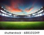 empty night grand stadium with... | Shutterstock . vector #688101049