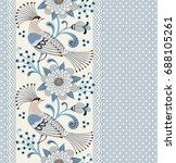 seamless pattern. polka dot...   Shutterstock .eps vector #688105261
