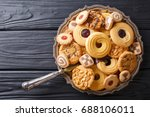 assorted shortbread cookie... | Shutterstock . vector #688106011