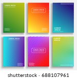colorful abstract pattern... | Shutterstock .eps vector #688107961