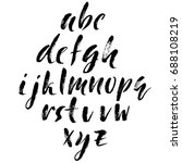 hand drawn dry brush font.... | Shutterstock .eps vector #688108219