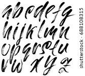 hand drawn dry brush font....   Shutterstock .eps vector #688108315