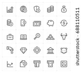 mini icon set   money and... | Shutterstock .eps vector #688110511