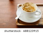 empty coffee cup after drink on ... | Shutterstock . vector #688123915