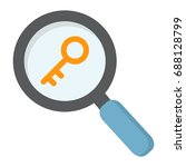 keyword research flat icon  seo ... | Shutterstock .eps vector #688128799