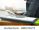 medicine doctor working with... | Shutterstock . vector #688135675