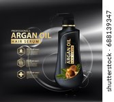 argan oil hair care protection... | Shutterstock .eps vector #688139347