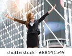 successful businesswoman.young... | Shutterstock . vector #688141549