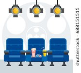 auditorium and three blue... | Shutterstock .eps vector #688151515