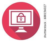 vector laptop password icon...