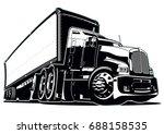 cartoon semi truck. available... | Shutterstock .eps vector #688158535