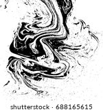 black and white liquid texture. ... | Shutterstock .eps vector #688165615