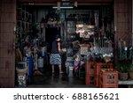 thailand 2017 july 14  local...   Shutterstock . vector #688165621
