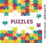 puzzle pieces isolated icon.... | Shutterstock .eps vector #688166155