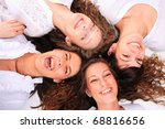 group of happy pretty laughing... | Shutterstock . vector #68816656