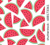 seamless pattern with juicy... | Shutterstock . vector #688173361
