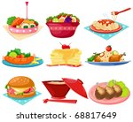 illustration of isolated set of ... | Shutterstock . vector #68817649