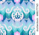 abstract ethnic ikat pattern... | Shutterstock .eps vector #688177765