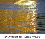 beautiful reflection of the sun'... | Shutterstock . vector #688179691