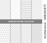 vector abstract geometric... | Shutterstock .eps vector #688181875
