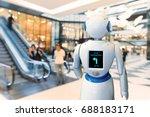 smart retail   robot assistant  ... | Shutterstock . vector #688183171
