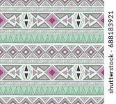 vector seamless ethnic pattern | Shutterstock .eps vector #688183921