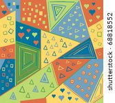 seamless geometric pattern ... | Shutterstock .eps vector #68818552