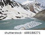 amazing looking frozen water... | Shutterstock . vector #688188271