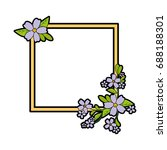 decorative frame with flowers... | Shutterstock .eps vector #688188301
