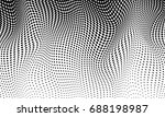 halftone vector background | Shutterstock .eps vector #688198987