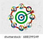 concepts for business analysis... | Shutterstock .eps vector #688199149