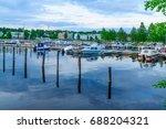 scene of the passenger harbor ... | Shutterstock . vector #688204321