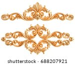 gold ornament on a white... | Shutterstock . vector #688207921