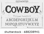 font script typeface vector... | Shutterstock .eps vector #688208941