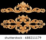 gold ornament on a black... | Shutterstock . vector #688211179