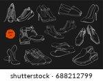 vector illustration of set hand ... | Shutterstock .eps vector #688212799