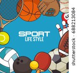 sport equipment concept  | Shutterstock .eps vector #688213084